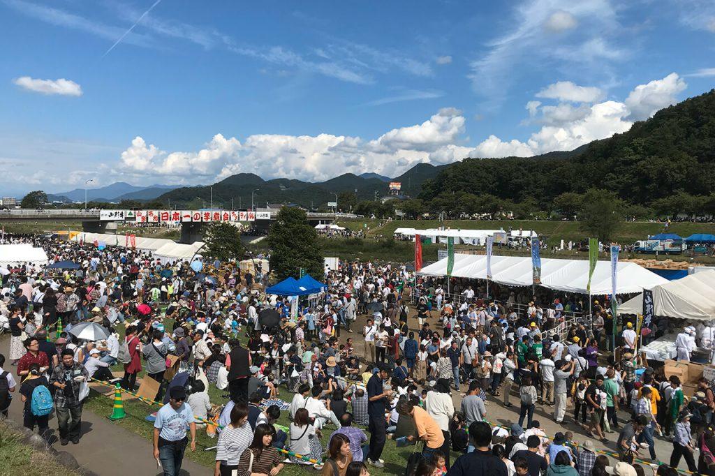 芋煮会フェスティバル会場